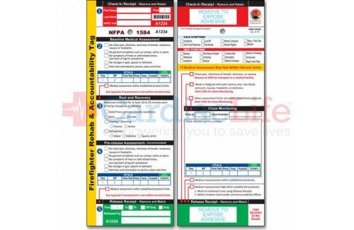 DMS-05986 Firefighter REHAB Tag, 2015 NFPA 1584 Edition